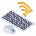 connected devices, electronic devices, wifi devices, wireless devices, wireless keyboard, wireless mouse icon
