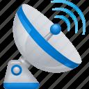 radio waves, antenna, wireless, technology, satellite dish, signal icon