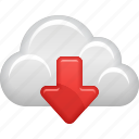 arrow, cloud, cloud computing, data, download, wireless icon