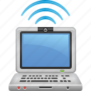 computer, laptop, signal, technology, wireless icon