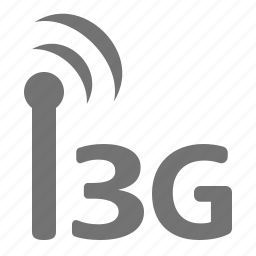 badnwidth, generation, internet, mobile, signal, third, wireless icon