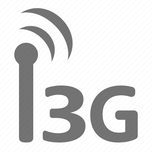 badnwidth, generation, internet, mobile, signal, third, wireless icon