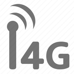 bandwidth, fourth, generation, internet, mobile, signal, wireless icon