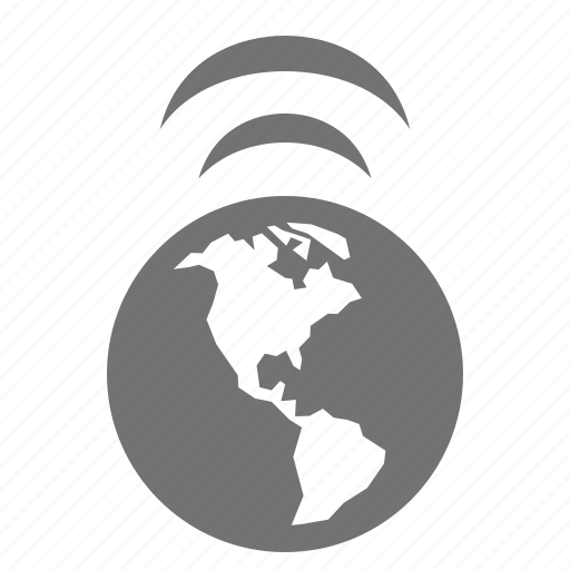 earth, global, internet, online, signal, wifi, wireless icon