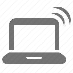 computer, device, laptop, mobile, portable, wifi, wireless icon