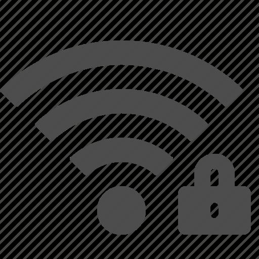 lock, locked, signal, wifi, wireless icon