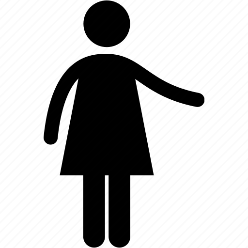 body, girl, language, pointing, presenting, showing, woman icon
