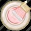 beauty, brush, makeup, powder, sparkles, woman, yumminky icon