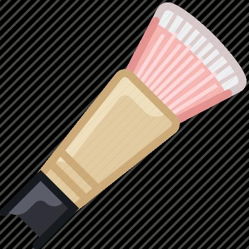 beauty, brush, graphic, makeup, painting, woman, yumminky icon