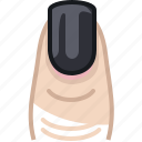 beautification, beauty, finger, nail, nail polish, woman, yumminky icon