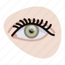 beautification, beauty, eye, eye spiral, eyelashes, woman, yumminky icon