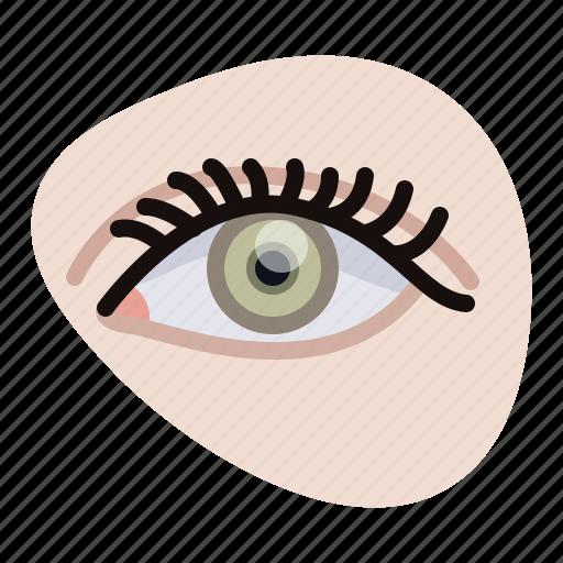 beautification, beauty, eye, eye spiral, eyelashes, woman, yumminky icon