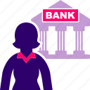bank, banking, business, woman