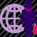 business, international, woman, world