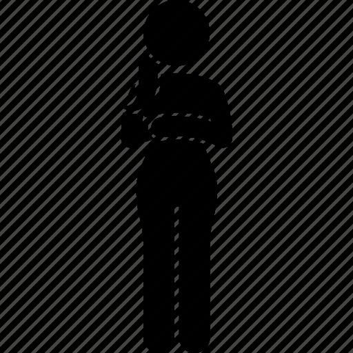 wait, waiting, woman icon