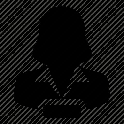 account, avatar, delete, human, remove, user, woman icon