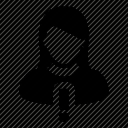 alert, avatar, human, person, user, warning, woman icon