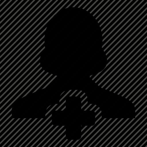 account, add, new, person, profile, user, woman icon
