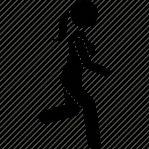 move, movement, walking, woman icon
