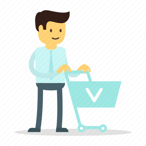 Group Of Young Running Men Pushing Supermarket Trolley Full Of.. Royalty  Free Cliparts, Vectors, And Stock Illustration. Image 124159275.