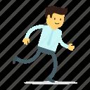 male, man, running