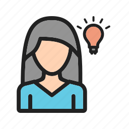 business, confused, laptop, search, thinking, woman, worker icon