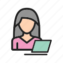 business, businesswoman, career, corporate, job, laptop, office