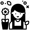avatar, gardener, job, profile icon