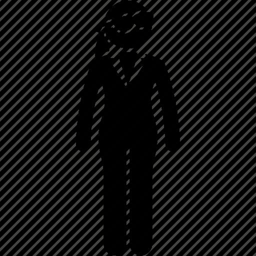 agent, female icon