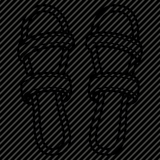 Flip, flipflop, flop, ladies, sandal, slipper, women icon - Download on Iconfinder