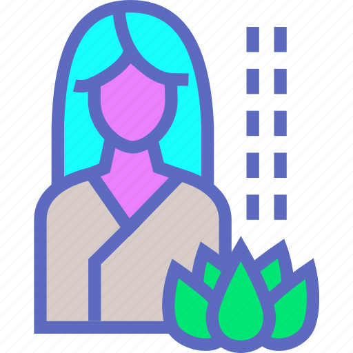 care, female, healthcare, meditation, relaxation, spa icon