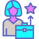 career, cv, growth, progress, prospect, star icon