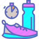 exercise, fitness, gym, run, sneakers, sport, training icon