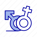female, gender, male, symbol icon