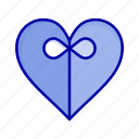 gift, heart, ribbon icon