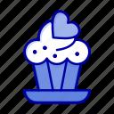 cake, cupcake, love icon