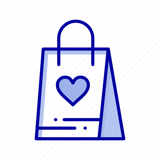 bag, gift, love, shopping icon