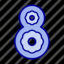 eight, flower icon