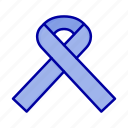awareness, cancer, ribbon icon