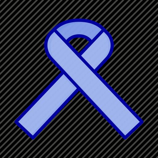 awareness, cancer, ribbon icon
