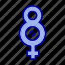eight, female, symbol