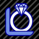 box, diamond, gift, ring