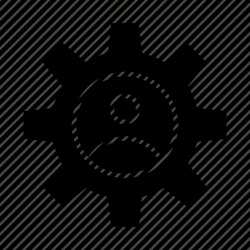 controls, gear, profile, use icon