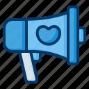 megaphone, shout, bullhorn, protest, marketing, communication, promotion