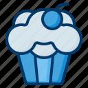muffin, food, dessert, sweet, cupcake, bakery, cupcakes