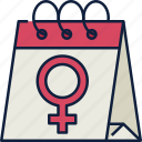 calendar, date, schedule, event, day, womens day, female symbol