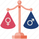 gender, equality, gender equality, female, male, womens day, celebration day icon