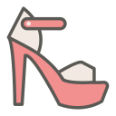 footwear, woman, high, fashion, peep toe pump, heel, shoe icon