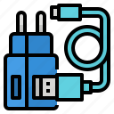 adapter, battery, charger, mobile icon