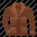 cloth, clothing, jacket, wear icon